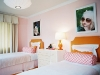 pink and orange girls bedroom decor via lilblueboo.com
