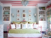 coral blue green girls bedroom decor via lilblueboo.com