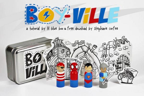 Superhero peg dolls with free download via lilblueboo.com