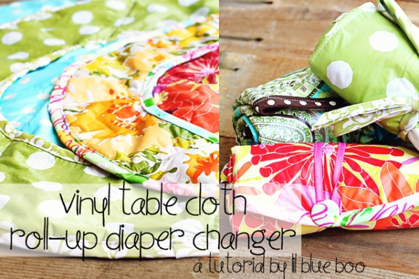 Round Diaper Changing Pad tutorial and free pattern by lilblueboo.com