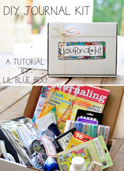 DIY Journal Gift Box with free downloads via lilblueboo.com