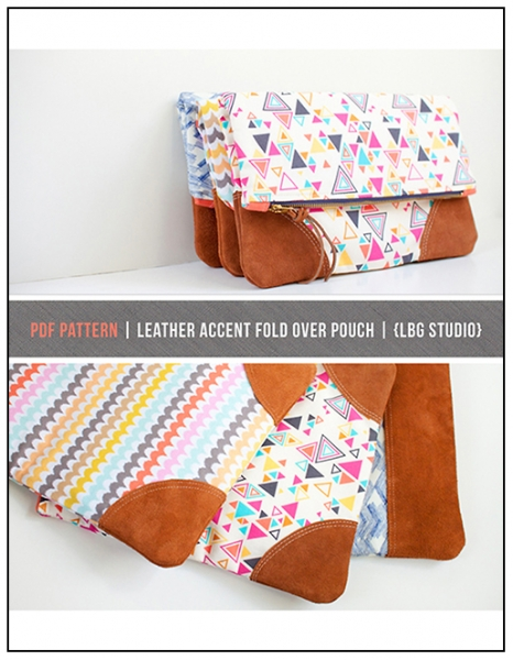 Foldover Purse or Totel PDF Sewing Pattern and Tutorial by LBG Studio via lilblueboo.com