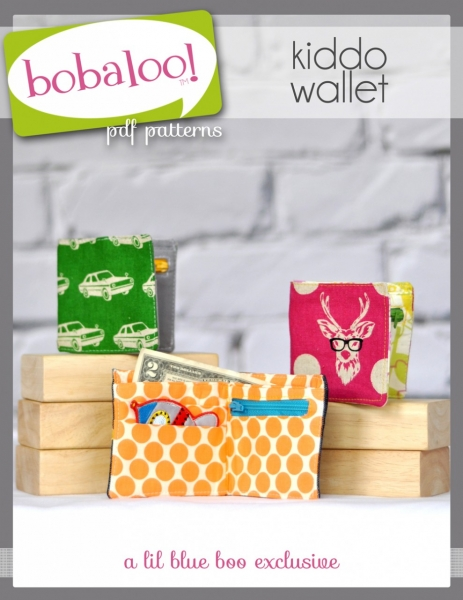 Kids Wallet PDF Sewing Pattern and Tutorial by Bobaloo! via lilblueboo.com