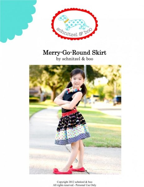 Girls Skirt PDF Sewing Pattern and Tutorial by Scnitzel and Boo via lilblueboo.com