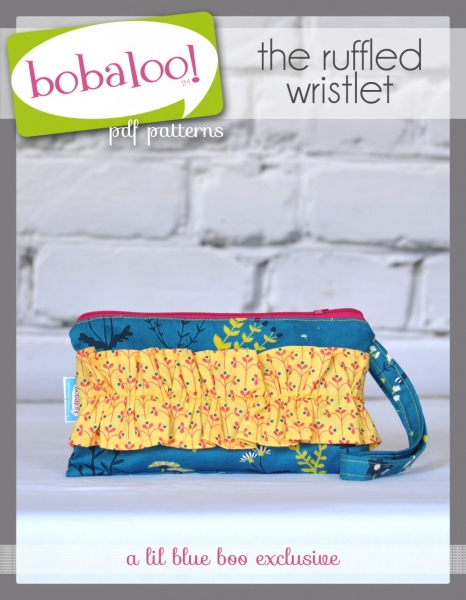 Ruffled Wristlet Bag PDF Sewing Pattern and Tutorial by Bobaloo! via lilblueboo.com