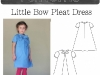 Girl's Bow Dress PDF Sewing Pattern and Tutorial by Blank Slate Patterns via lilblueboo.com