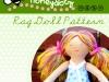 Honeydotz Rag Doll PDF Sewing Patterna and Tutorial via lilblueboo.com