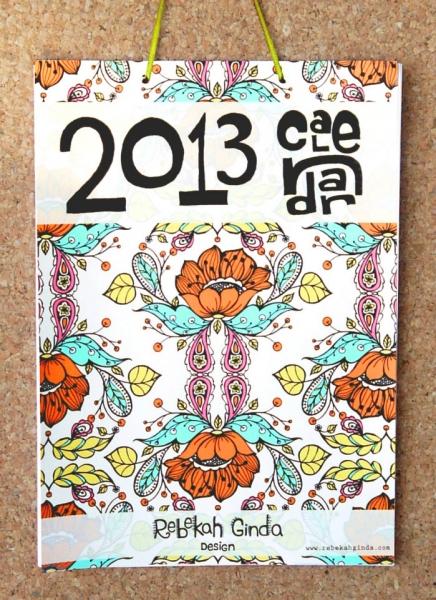 Wall or Desk Calendar Printable by Rebekah Ginda via lilblueboo.com