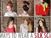 10 ways to wear a silk scarf from A Beautiful Mess via lilblueboo.com