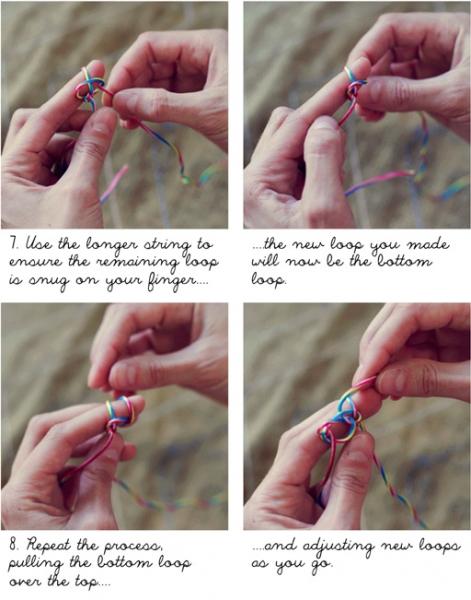 how to make finger crochet bracelets