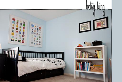 Book wall art and other boy's bedroom decor ideas via lilblueboo.com