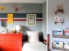 Skateboard bookshelves and and other boy's bedroom decor ideas via lilblueboo.com