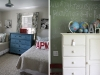 Cute twin beds and other boy's bedroom decor ideas via lilblueboo.com