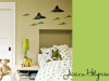 Paper airplane wall and other boy's bedroom decor ideas via lilblueboo.com