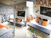 Orange airplane theme and other boy's bedroom decor ideas via lilblueboo.com