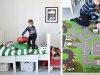 White, Green, Vintage and other boy's bedroom decor ideas via lilblueboo.com