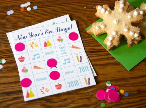 New Year's Eve Bingo Free Printable by Hip Hip Hooray Blog via lilblueboo.com