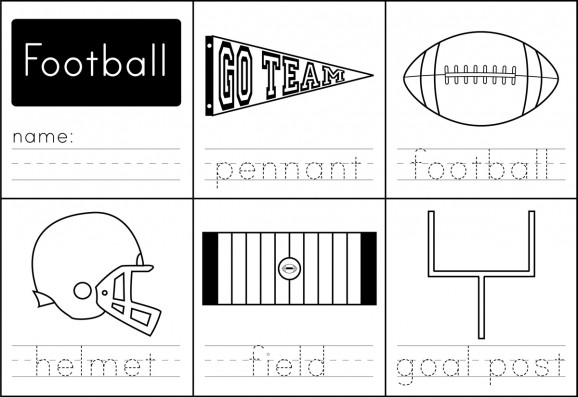 Kid Friendly Super Bowl Ideas: Football Worksheet via lilblueboo.com