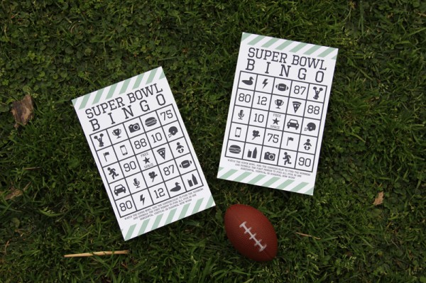 Kid Friendly Super Bowl Ideas: Super Bowl Bingo via lilblueboo.com