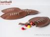 Kid Friendly Super Bowl Ideas: Football Candy Pouches via lilblueboo.com