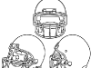 Kid Friendly Super Bowl Ideas: Free Football Coloring Pages  via lilblueboo.com