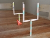 Kid Friendly Super Bowl Ideas: Paper Football Game via lilblueboo.com