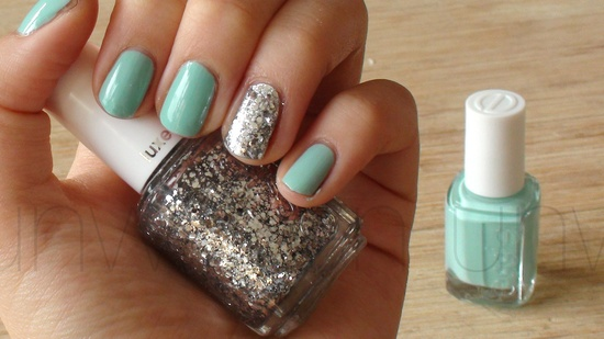 Spring Nail Art Ideas: Add a glitter accent by Unwritten via lilblueboo.com