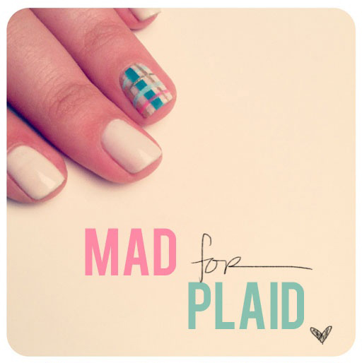 Spring Nail Art Ideas: Mad for Plaid at The Beauty Department via lilblueboo.com