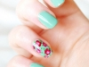 Spring Nail Art Ideas: Floral Manicure at She Said Beauty via lilblueboo.com