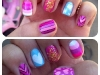 Spring Nail Art Ideas: Mix and Match Manicure at Glitter and Gloss via lilblueboo.com