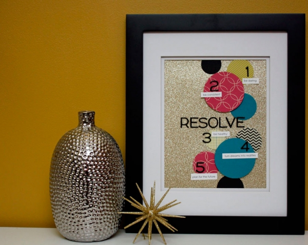 new year's resolutions framed art via lilblueboo.com