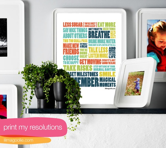 free new year's resolution art printable via lilblueboo.com