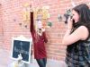 display polaroids with new year's resolutions on twine via lilblueboo.com