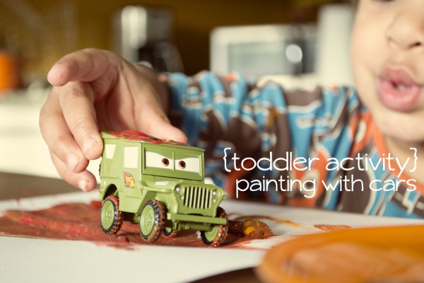 Painting with Cars at Mama Mandolin via lilblueboo.com