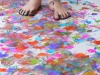 Painting with your Feet at Fun at Home with Kids via lilblueboo.com