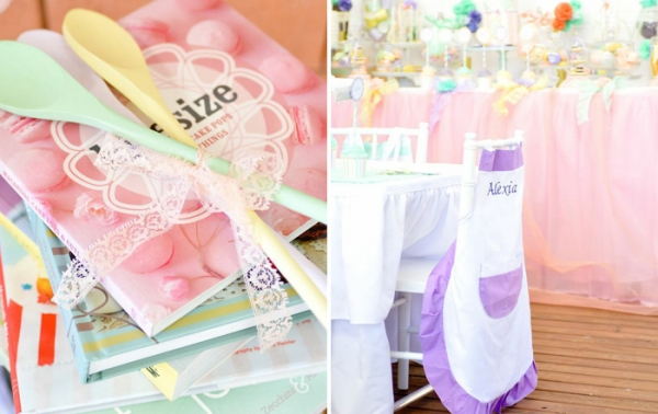 Party Ideas for Girls: Baking Party by Sweet Bambini Event Styling featured on Amy Atlas via lilblueboo.com