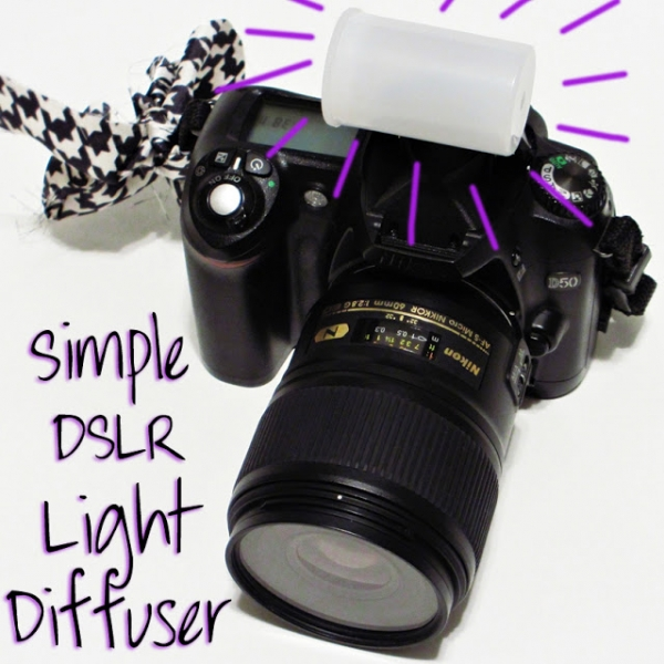 Simple DIY dslr light diffuser by Coffee and Velvet  via lilblueboo.com