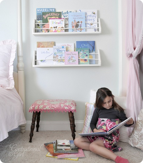 Reading Nook or Corner Space for Kids Centsational Girl by via lilblueboo.com