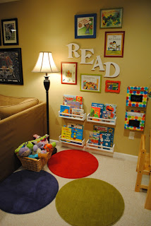 Reading Nook or Corner Space for Kids by Naptime Decorator via lilblueboo.com