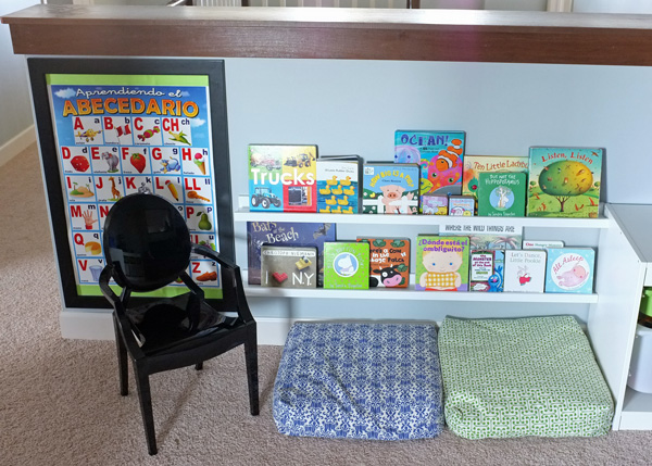 Reading Nook or Corner Space for Kids by Teal and Lime via lilblueboo.com