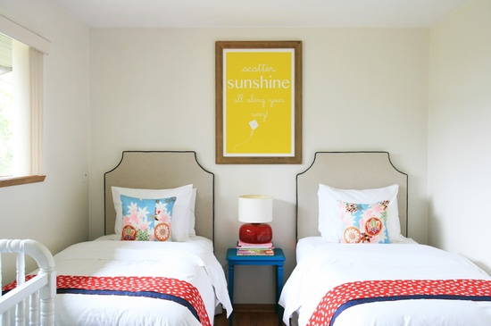 Shared Bedroom Ideas for Kids: Room for Three by Stephmodo via lilblueboo.com