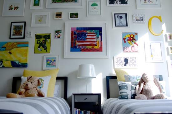 Shared Bedroom Ideas for Kids: Boy's Shared Room at Project Nursery via lilblueboo.com