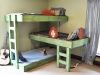 Shared Bedroom Ideas for Kids: DIY bunks for three at The Handmade Dress via lilblueboo.com