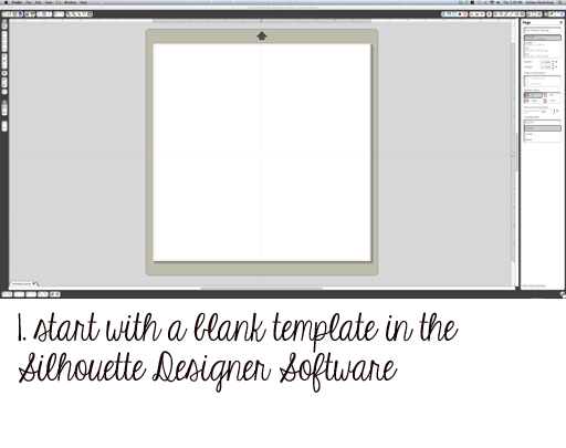 How to make a rhinestone template from scratch Step 1 via lilblueboo.com