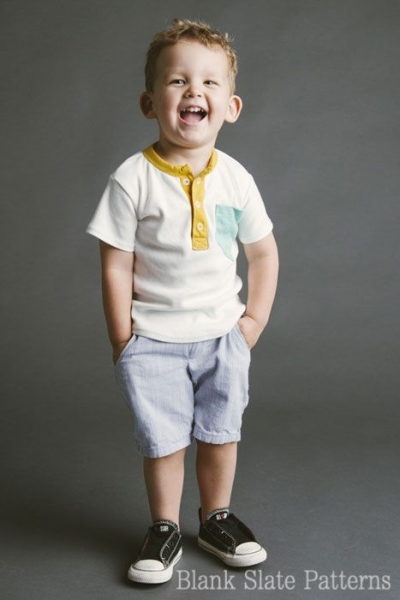 Summer Sewing Patterns: Shorts for Boys PDF Sewing Pattern via lilblueboo.com
