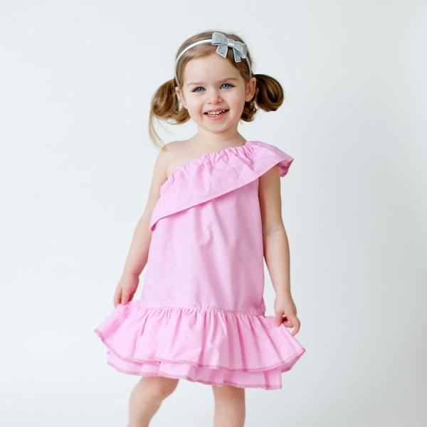 Summer Sewing Patterns: Asymmetrical Ruffle Dress PDF Sewing Pattern via lilblueboo.com