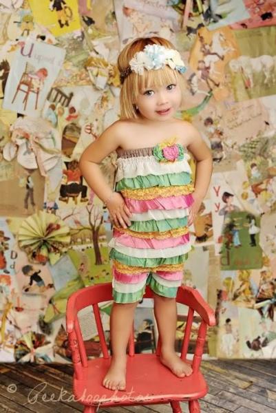 Summer Sewing Patterns: Ruffled Petti Romper PDF Sewing Pattern via lilblueboo.com