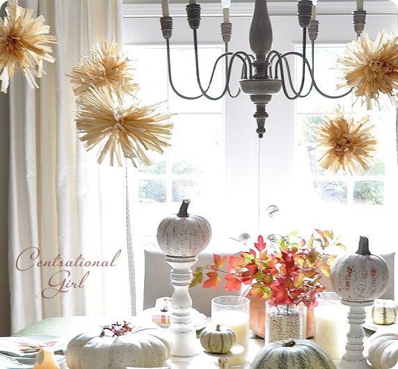 Easy fall crafts for your Thanksgiving table via lilblueboo.com
