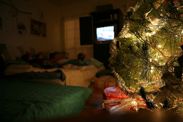 Sleeping under the Christmas tree tradition from Under the Sycamore via lilblueboo.com