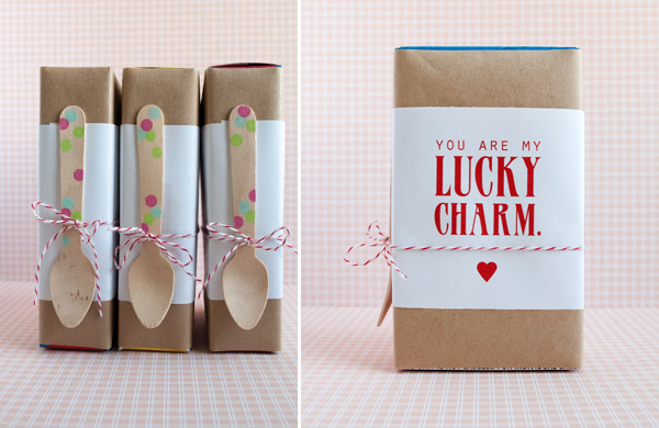 Cereal box Valentine's Day printable from Lily Jane Stationery via lilblueboo.com